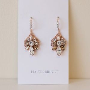 Haute Bride Vintage Cluster Earrings